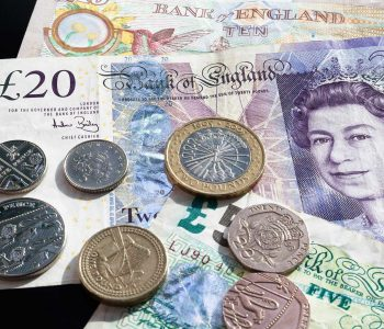 Photo of English pounds stirling for money pages